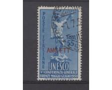 1950 - LOTTO/14684 - TRIESTE A - 55 LIRE  U.N.E.S.C.O. - USATO