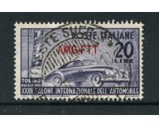 1950 - LOTTO/14703 - TRIESTE A - 20 Lire SALONE AUTO - USATO