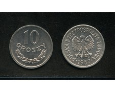 1967 - LOTTO/M14765 - POLONIA - 10 GROSZY  FIOR DI CONIO