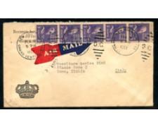 1952 - LOTTO/1476 - STATI UNITI - BUSTA VIA AEREA PER L'ITALIA