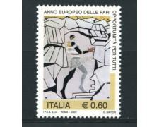2007 - LOTTO/14802 - REPUBBLICA - PARI OPPORTUNITA' - NUOVO