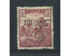 1918 - LOTTO/14875 - FIUME - 3 FILLER - USATO