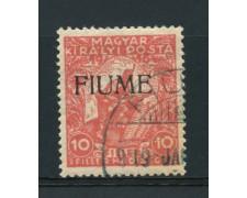 1918 - LOTTO/14879 - FIUME - 10 FILLER BENEFICENZA DI GUERRA - USATO