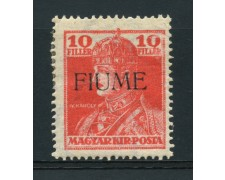 1918 - LOTTO/14881 - FIUME - 10 FILLER ROSSO - LING.