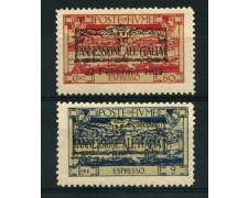 1924 - LOTTO/14915 - FIUME - ESPRESSI SOPRASTAMPATI ANNESSIONE ALL'ITALIA 2v. - NUOVI