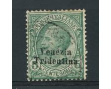 1918 - LOTTO/14917 - TRENTINO - 5c. VERDE  - USATO
