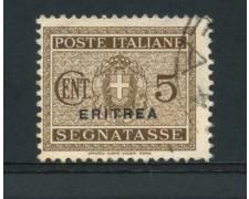 1934 - LOTTO/14957 - ERITREA - 5 CENT. SEGNATASSE - USATO