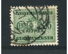 1934 - LOTTO/14959 - ERITREA - 25 CENT.VERDE  SEGNATASSE - USATO