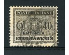 1934 - LOTTO/14960 - ERITREA - 40 CENT. GRIGIO SEGNATASSE - USATO