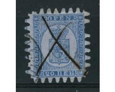 1866 - LOTTO/15008 - FINLANDIA - 20p. AZZURRO SU CELESTE - USATO