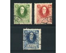 1925 - LOTTO/720A - LIECHTENSTEIN - 85° COMPLEANNO PRINCIPE 3v. - USATI
