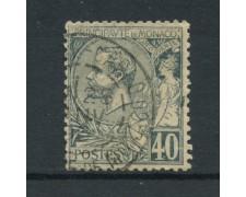 1891 - LOTTO/15038 - MONACO - 40 CENT. AZZURRO SU ROSA -  USATO