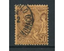 1891 - LOTTO/15039 - MONACO - 50 CENT. LILLA BRUNO - USATO