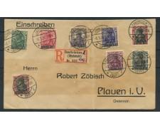1920 - LOTTO/15057 - SARRE - BUSTA RACCOMANDATA DA  SAARBRUCKEN A PLUEN