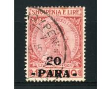 1914 - LOTTO/15066A - ALBANIA - 20 Pa. SU 10 Q. ROSSO - USATO