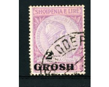 1914 - LOTTO/15068A - ALBANIA - 2 Gr. su 50q. LILLA - USATO