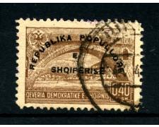 1946 - LOTTO/15084 - ALBANIA - 40q. PROCLAMAZIONE REPUBBLICA - USATO