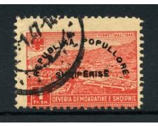 1946 - LOTTO/15085 - ALBANIA 1 F. PROCLAMAZIONE REPUBBLICA - USATO