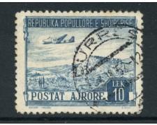 1950 - LOTTO/15093A - ALBANIA - 10 Lek  POSTA AEREA  - USATO