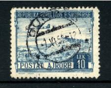 1950 - LOTTO/15093 - ALBANIA - 10 Lek  POSTA AEREA  - USATO