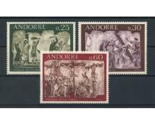 1968 - LOTTO/15140 - ANDORRA FRANCESE - AFFRESCHI DEL 16° SECOLO 3v. - NUOVI