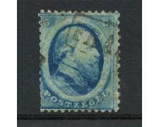 1864 - LOTTO/15141 - OLANDA - 5c. AZZURRO RE GUGLIELMO - USATO
