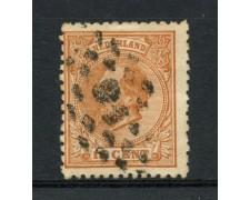 1872/88 - LOTTO/15144 - OLANDA - 15c. GIALLO BRUNO  RE GUGLIELMO - USATO