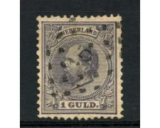 1888 - LOTTO/15147 - OLANDA - 1g. VIOLETTO  RE GUGLIELMO III° - USATO
