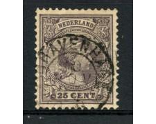 1891/97 - LOTTO/15149A - OLANDA - 25c. LILLA REGINA GUGLIELMINA - USATO