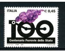 2005 - LOTTO/15158 - REPUBBLICA - CENTENARIO FERROVIE DELLO STATO - NUOVO