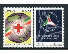 2005 - LOTTO/15161 - REPUBBLICA - CROCE ROSSA E PROTEZ. CIVILE  2v. - NUOVI
