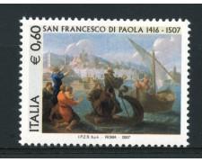 2007 - LOTTO/15195 - REPUBBLICA - S. FRANCESCO DI PAOLA - NUOVO