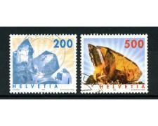 2002 - LOTTO/15214U - SVIZZERA - MINERALI 2v. - USATI