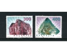 2003 - SVIZZERA - MINERALI 2v. - USATI