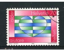 1996 - LOTTO/15220 - SVIZZERA - 70c. CAMPAGNA AIDER - USATO
