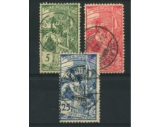 1900 - LOTTO/15243 - SVIZZERA - 25° UPU 3v. - USATI