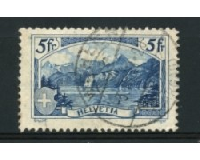 1928 - LOTTO/15245 - SVIZZERA - 5 Fr. MONTE RUTLI - USATO