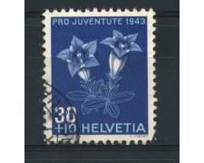 1943 - LOTTO/15251 - SVIZZERA - 30+10Cc. PRO JUVENTUTE - USATO