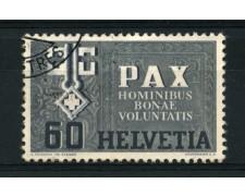 1945 - LOTTO/15252 - SVIZZERA - 60c.  SERIE DELLA PACE - USATO