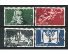 1948 - LOTTO/15259 - SVIZZERA - TRATTATO DI WESTFALIA 4v. - USATI