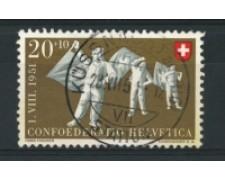 1951 - LOTTO/15261 - SVIZZERA - 20+10 Cent. PRO PATRIA - USATO
