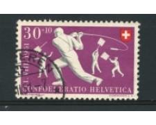 1951 - LOTTO/15262 - SVIZZERA - 30+10 Cent. PRO PATRIA - USATO