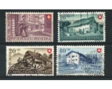 1949 - LOTTO/15264 - SVIZZERA - PRO PATRIA 4 VALORI - USATI
