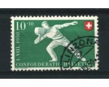 1950 - LOTTO/15267 - SVIZZERA - 10+10 Cent. PRO PATRIA - USATO