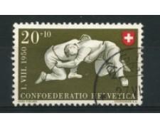 1950 - LOTTO/15268 - SVIZZERA - 20+10 Cent. PRO PATRIA - USATO