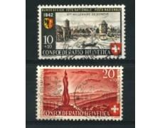 1942 - LOTTO/15272 - SVIZZERA - PRO PATRIA 2v. - USATI