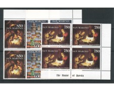 1993 - SAN MARINO - NATALE  3v. - QUARTINE NUOVI - LOTTO/15300Q