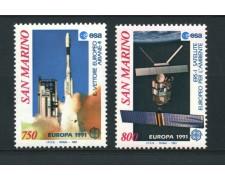 1991 - LOTTO/15349 - SAN MARINO - EUROPA LO SPAZIO 2v. - NUOVI