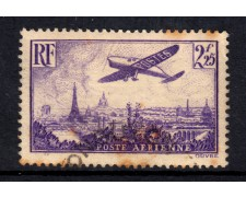 1936 - LOTTO/15440 - FRANCIA  - 2,25 FRANCHI POSTA AEREA - USATO