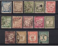 1884/1927 - LOTTO/15441 - FRANCIA - SEGNATASSE USATI